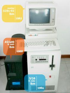 Monitor 5291-02, Ibm 1983. AS/400-9402, Ibm, 1988. S/36-5362, Ibm, 1984.