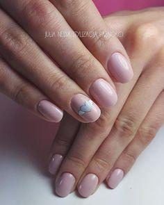 #nails #delicate #heart #nude #paznokcie #delikatne #serduszko