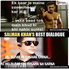 #SalmanKhan movies have always been famous for its dialogues. Which one is your favorite among these? Pick here -