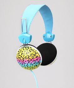 Leopard Pink Cookie Stereo Headphones