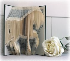 This listing is for the book folding pattern Horse  Book Requirements: - At least 510 Pages - Around 21,5 cm Height  Materials: - Hardcover Book - Ruler (cm/mm) or Combination Square - Pencil - Bone Folder (Optional) All my patterns use the measure and mark method and are in centimeters. You will receive a Pdf file which contains the measurements to create your own amazing book. No special skills or equipment are required; there is a tutorial included for free! . If you prefer an excel file…