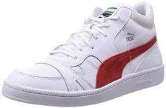 Puma Becker Mid, Herren Sneaker  Weiß Blanc (White/High Risk Red) 45 - http://on-line-kaufen.de/puma/45-eu-puma-becker-mid-herren-sneaker-3