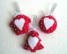 colgantes navidad adornos colgantes ideas adornos pano lenci ornamentos cenas corazones fieltros navidad ao navidad