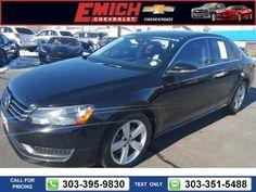 2012 Volkswagen Passat SE Black $13,499 31706 miles 303-395-9830  #Volkswagen #Passat #used #cars #EmichChevrolet #Denver #CO #tapcars