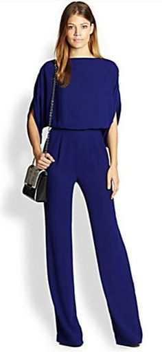 Women's tall jumpsuits with 33 and 34 inseam lengths. These jumpsuits for tall women are fashionable and fabulous! Jumpsuit Dressy, Jumpsuit Outfit, Silk Jumpsuit, Tall Women Fashion, Womens Fashion, Throwback Outfits, Fashion Forever, Affordable Fashion, Tulum