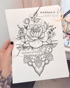 Tattoos for women – Tattoos And Tatuaje Mandala Floral, Mandala Wrist Tattoo, Mandala Flower Tattoos, Tattoo Designs Wrist, Mandala Tattoo Design, Mandala Rose, Mandala Sleeve, Paisley Tattoos, Henna Tattoos