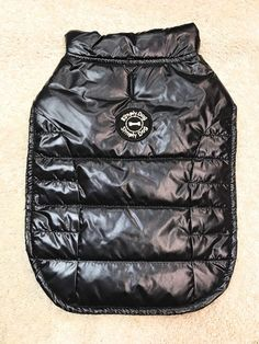 Dog Coat Jacket Size Large Pet Puppy Pup Attire Animal Cat Solid Black #SimplyDog