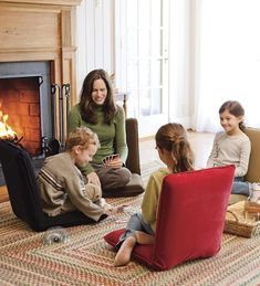 Adjustable Five-Position Multiangle Chairs are great for floor games and reading by the fire.