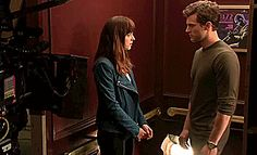 Behind the Scenes filming 'The Elevator Scene' #fsog @lilyslibrary #anastasiasteele #christiangrey