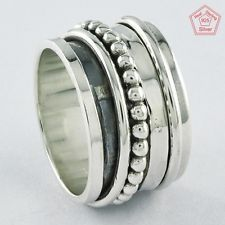 Sz 9 US, Featured Design 925 STERLING SILVER SPINNING RING, R4406