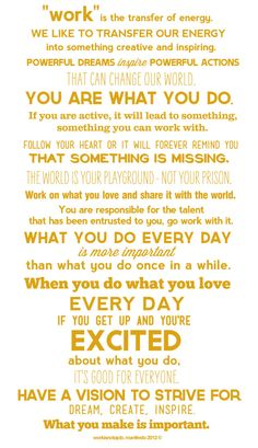 You are what you do...