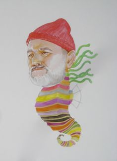 Hey, I found this really awesome Etsy listing at http://www.etsy.com/listing/124900132/bill-murray-as-a-crayon-ponyfish-print