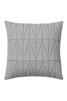 """18"""" Square Quilted Chambray Pillow, Grey.  Removable insert. Grey Chambray Pillow by Bloomingville. Home & Gifts - Home Decor - Pillows & Throws"""