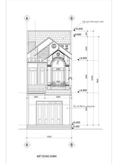 ban ve nha 2 tang mat tien dep hien dai Architecture Plan, Architecture Details, House In The Woods, Facade, Floor Plans, House Design, How To Plan, Interior, Abu Ahmed