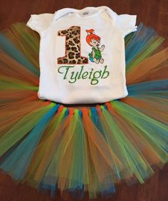 Flinstones Inspired Birthday Outfit by LittleDreams2012 on Etsy
