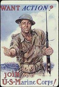 Cartel propaganda alistamiento de USMC (Cuerpo de Marines)- 6