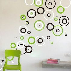 Neoteric Circle Wall Decor Ring Vinyl Decal Bedroom Shape Design Like Thi Item Sculpture Sticker Idea Hobby Lobby Decorative Mirror Shape Design, Wall Design, Diy Design, Vinyl Wall Decals, Wall Stickers, Wall Paint Patterns, Wall Painting Decor, Room Decor, Wall Decor
