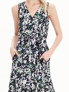 Mixed-Floral V-Neck Maxi Dress Product Image