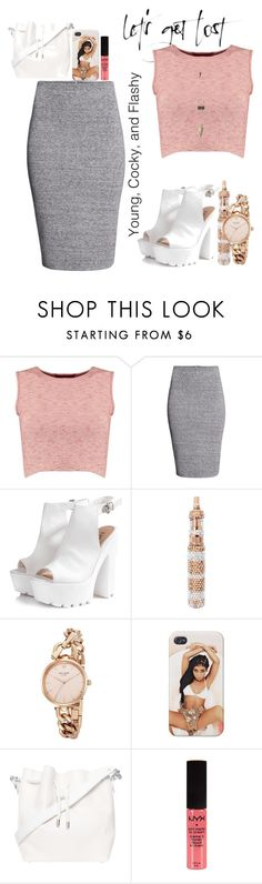 """""""Untitled #38"""" by prettykalon ❤ liked on Polyvore featuring Boohoo, H&M, Glamorous, Kate Spade, Proenza Schouler, NYX and Charlotte Russe"""