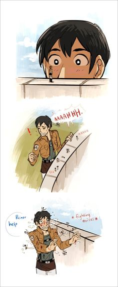 Read Bertolt Hoover from the story Attack On Titan Memes / AOT Memes by (help) with reads. Armin, Eren X Mikasa, Attack On Titan Funny, Attack On Titan Anime, Aot Funny, Tous Les Anime, Aot Memes, Images Gif, Mini Comic