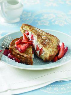 Recipe for Strawberry Ricotta Stuffed Whole Grain French Toast