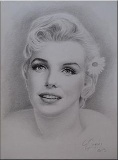 Marilyn Monroe by magerar | This image first pinned to Marilyn Monroe Art board, here: http://pinterest.com/fairbanksgrafix/marilyn-monroe-art/ || #Art #MarilynMonroe