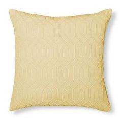 Velvet Decorative Pillow - Yellow – Threshold™