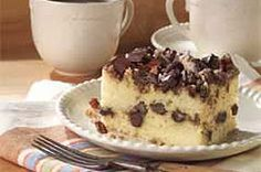 Chocolate Chunk Cinnamon Coffee Cake Recipe Cinnamon Coffee Cake Coffee Cake Coffee Cake Recipes