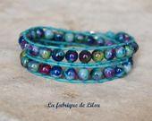 Bracelet wrap perles de jade mountain façon chan luu : Bracelet par la-fabrique-de-lilou