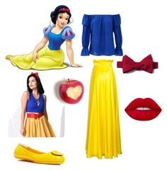 """""""Branca de Neve 🍎"""" by angel-barbara ❤ liked on Polyvore featuring Nicole Miller, Tory Burch and Lime Crime"""