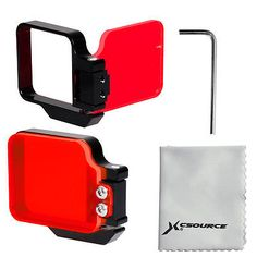 Diving red color flip #filter #black aluminium #frame for gopro hero 3+ 4 lf632,  View more on the LINK: 	http://www.zeppy.io/product/gb/2/151550917680/