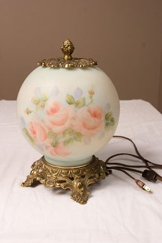 Hey, I found this really awesome Etsy listing at https://www.etsy.com/listing/127447543/handpainted-globe-rose-lamp