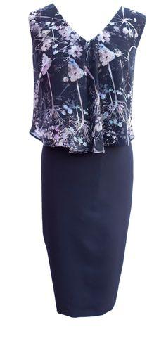 Karli print black dress by Phase Eight Size 18 RRP Phase 8 Dresses, Lk Bennett Dress, Phase Eight, 18th, Campaign, Chiffon, Website, Medium, Formal Dresses