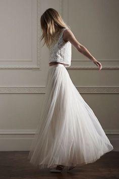 Maxi tulle skirt non puffy tulle skirt mesh skirt by HiddenRoom