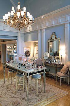 Step inside the elegant Madison Ave. location of Kimara Ahnert makeup studio.  www.kimara.com