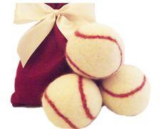 100% Wool Dryer Balls Baseball Gift Set of by ALittleGreenBeeShop