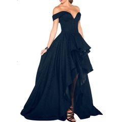 Find More Evening Dresses Information about Honey Qiao Vestido De Festa Satin…