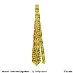 Ottoman Turkish tulip pattern in red and yellow Tie