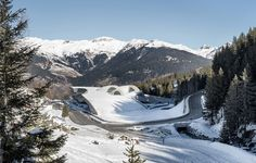 Auer Weber's aquatic centre in French Alps has sloping roof
