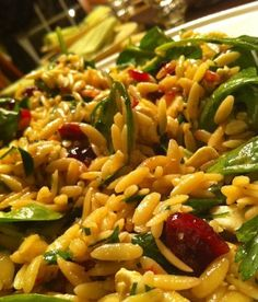 Orzo Salad with Cranberries, Feta Cheese & Fresh Spinach  Orzo: Cooking  Orzo pasta according to box directions. Instead of water use chick...