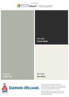 grey exterior house colors Exterior paint colora for house green white trim dining rooms 34 Ideas for 2019 Green Exterior Paints, Green Siding, Exterior Color Palette, Exterior Paint Colors For House, Grey Exterior, Paint Colors For Home, Exterior Colors, Sage Green House, White Brick Houses