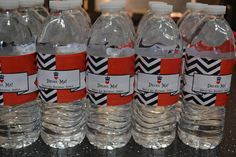 Queen of Hearts themed party - DIY water bottle labels