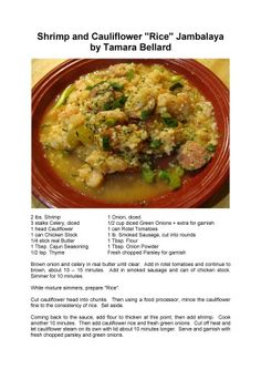 "Shrimp & Cauliflower ""Rice"" Jambalaya"