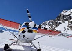 Cessna Ski Plane on the Tasman Glacier Mount Cook, Mountain Range, Alps, New Zealand, Plane, Skiing, Photo Galleries, Gallery, Pictures