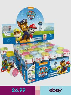 1 X Paw Patrol Bubble tub. Party Bag Toys, Party Gift Bags, Ball Birthday Parties, Birthday Bag, Pinata Fillers, Party Bag Fillers, Shimmer Y Shine, Ryder Paw Patrol, Childrens Party Bags