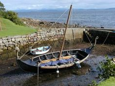 Low tide, Isle of Arran, Scotland Dean Castle, Isle Of Arran, England Ireland, Highlanders, Viking Ship, Small Boats, Places Of Interest, Wooden Boats, My Heritage