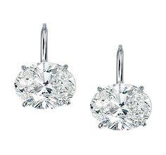 Platinum East - West Oval Diamond Drop Earrings ~ Ivanka Trump Collection