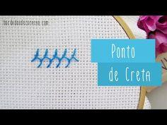Ponto de Creta | Bordados de Coração