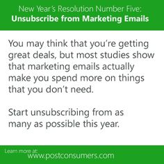 Unsubscribe from Marketing Emails
