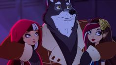 Cerise Hood,Big Bad Wolf, Cerise' sister Ramona Badwolf